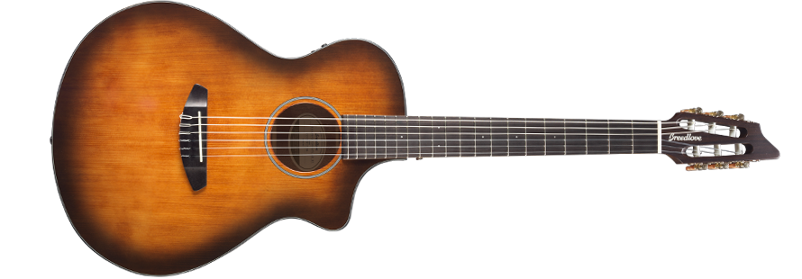 Breedlove Discovery Concert Satin Bourbon Nylon CE Engelmann-Mahogany Acoustic Guitar