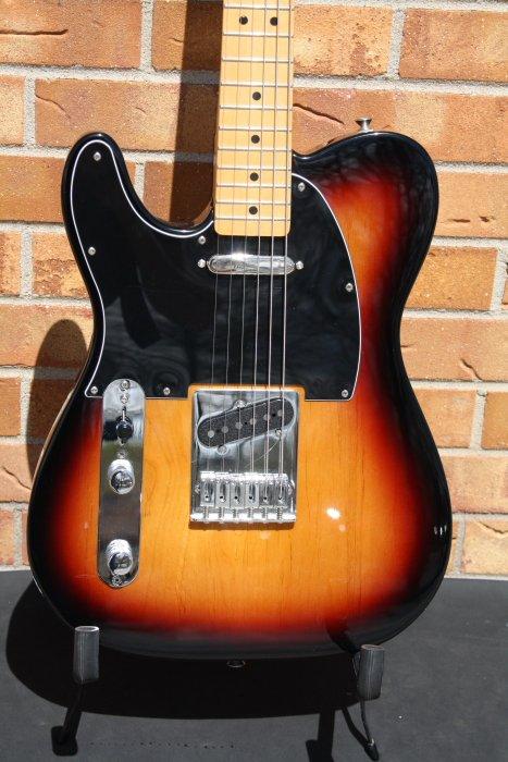 2015 Fender Tele MIM-LEFTY-Sunburst with upgrades
