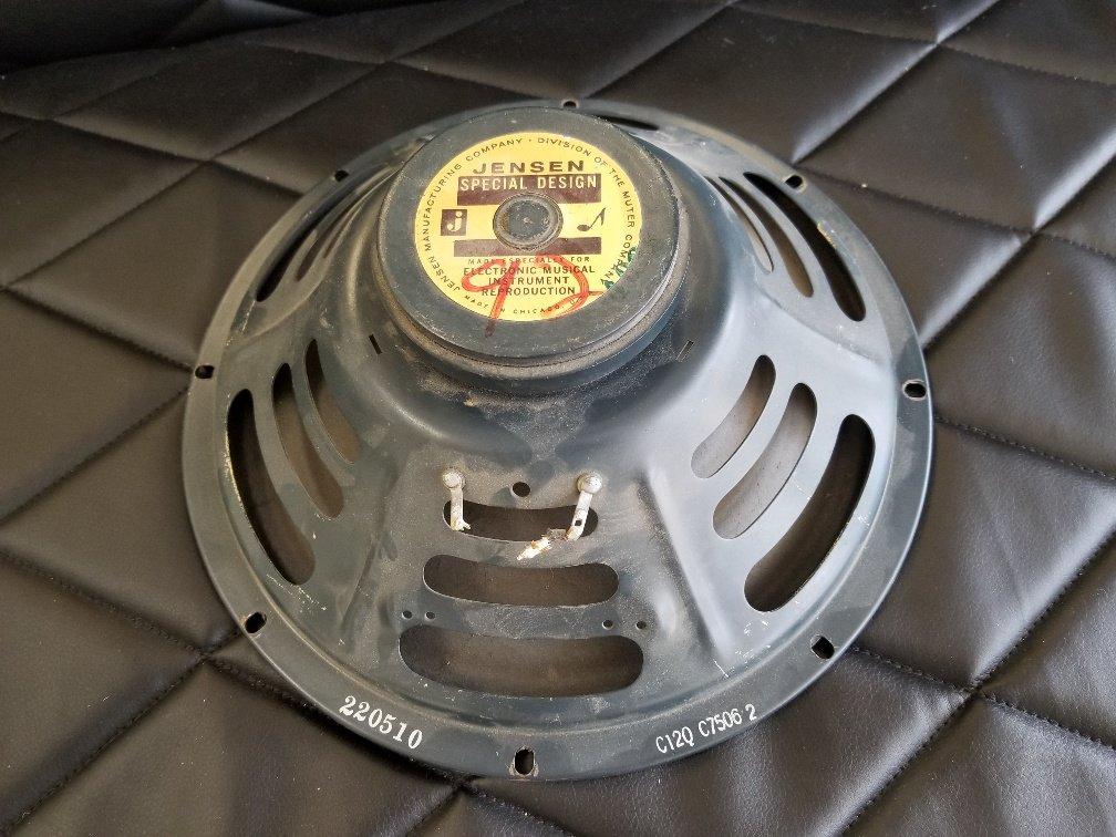 Fender Jensen C12Q 1955 Original Cone