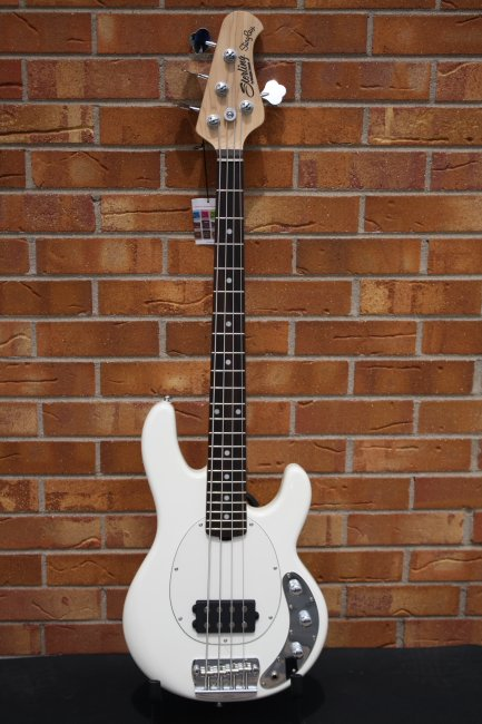 Sterling by Musicman Short Scale 4 String Bass-Olympic White
