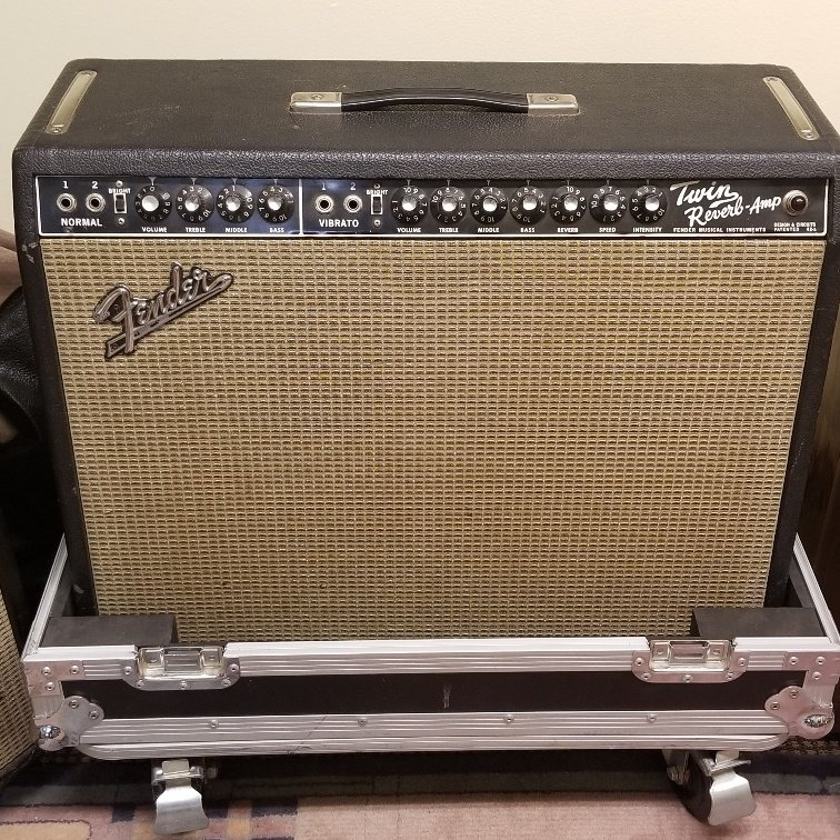 1967 Fender Twin Reverb with Road Case