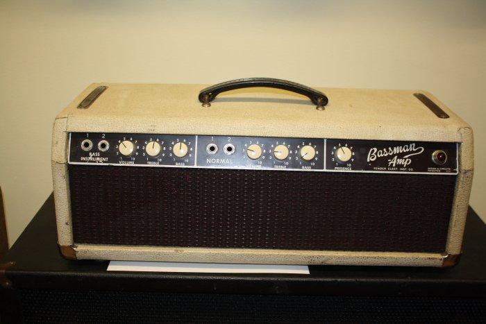 1962 Fender Bassman Head 6G6A-White