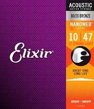 Elixir Acoustic 80/20 NW Light 12 String