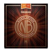 D'Addario NB1047 Nickel Bronze Acoustic Guitar Strings, Extra Light, 10-47