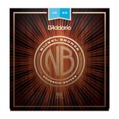 D'Addario NB1253 Nickel Bronze Acoustic Guitar Strings, Light, 12-53