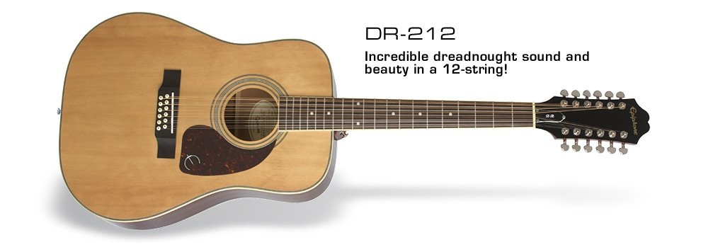 Epiphone DR-212 twelve string Acoustic