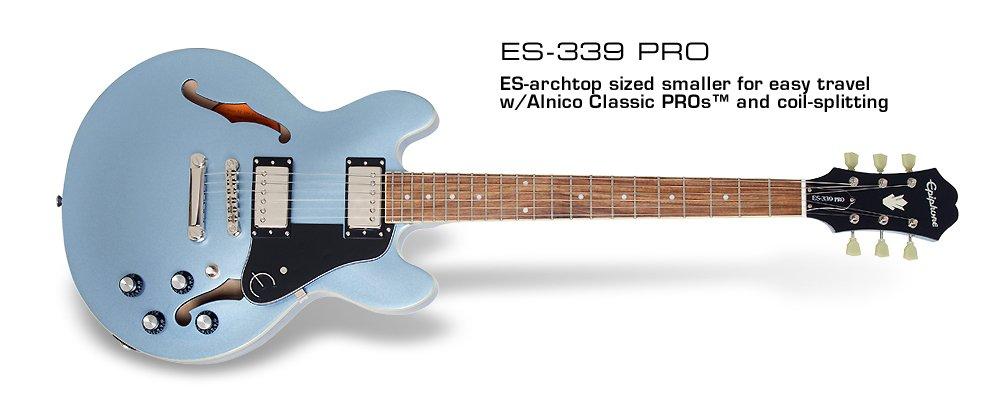 Epiphone ES-339 PRO-Pelum Blue
