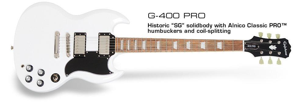 Epiphone SG G-400 PRO-White