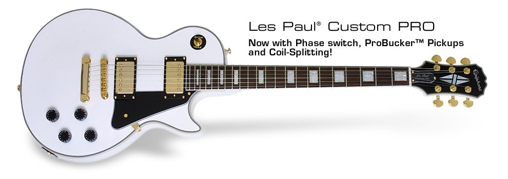 Epiphone Les Paul Custom PRO-White