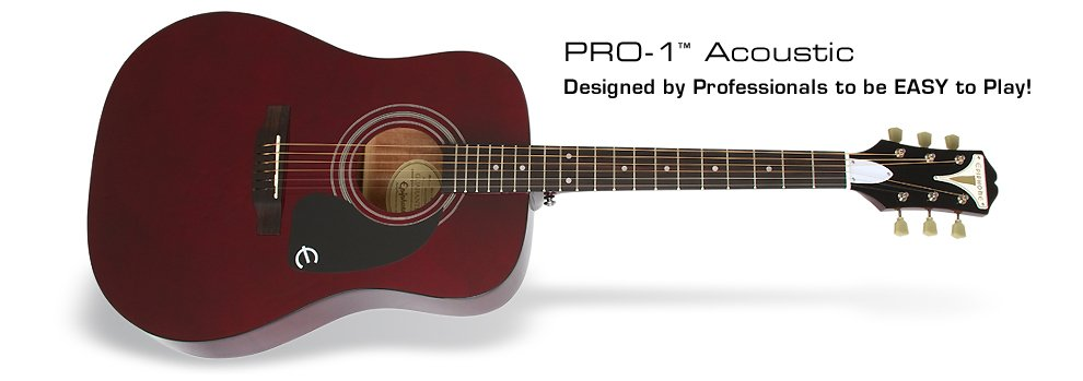 Epiphone PRO-1 Acoustic Wine Red