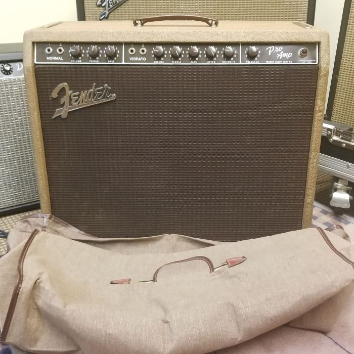 1960 Fender Pro Amp with Cover