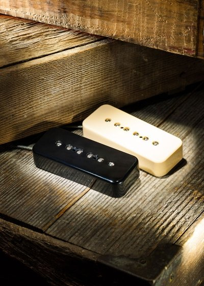 Lollar P-90 Soap Bar-Neck-Black Cover