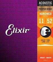 Elixir Acoustic Phosphor Bronze NW-Custom Light