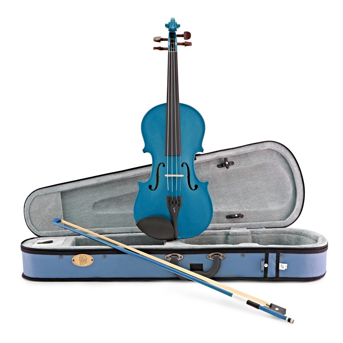 Stentor Harlequin 4/4 Violin Outfit - Marine Blue