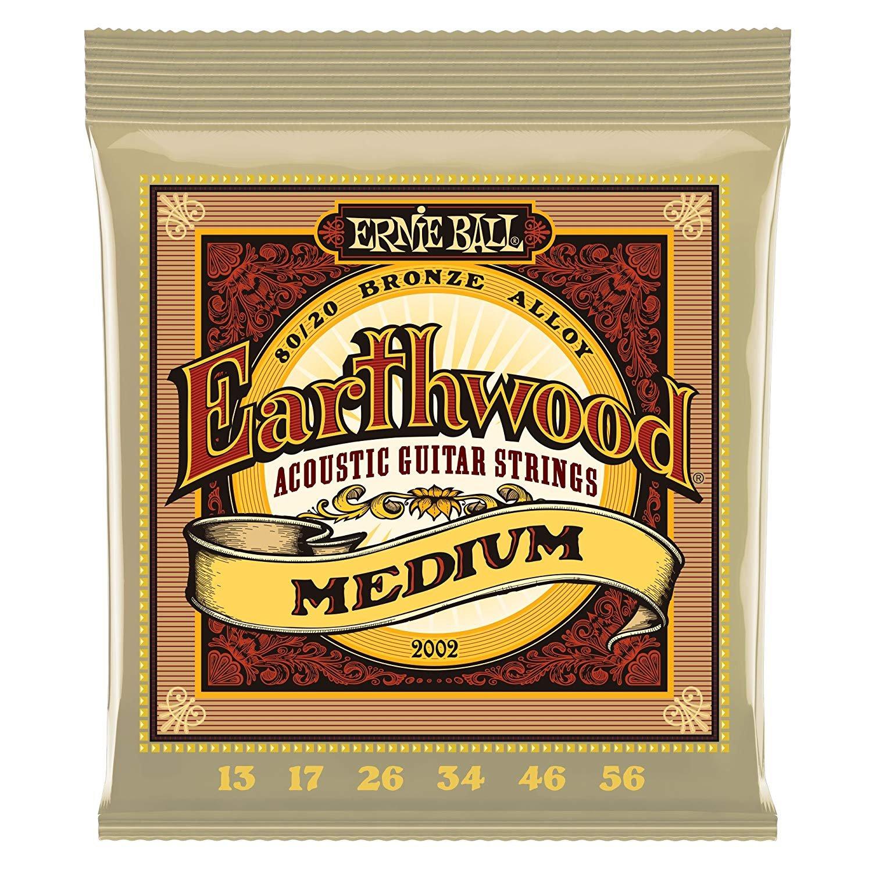 Ernie Ball Earthwood Medium Acoustic 80/20 Bronze Gauges .013, .017, .026, .034, .046, .056