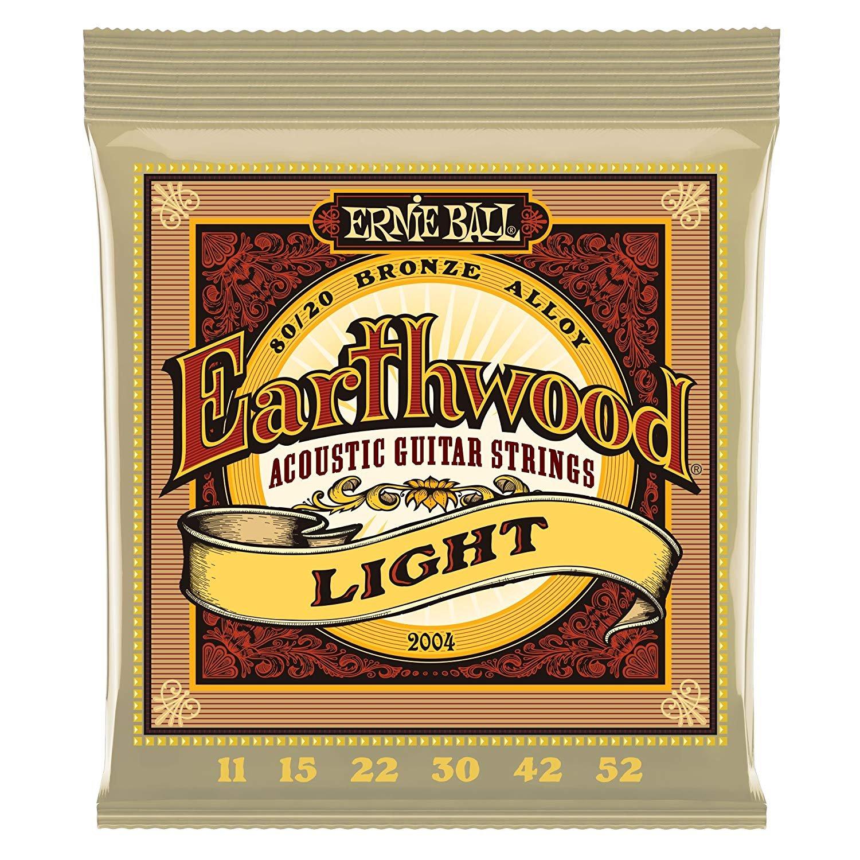 Ernie Ball Earthwood 80/20 Bronze Acoustic Strings Light 11-52
