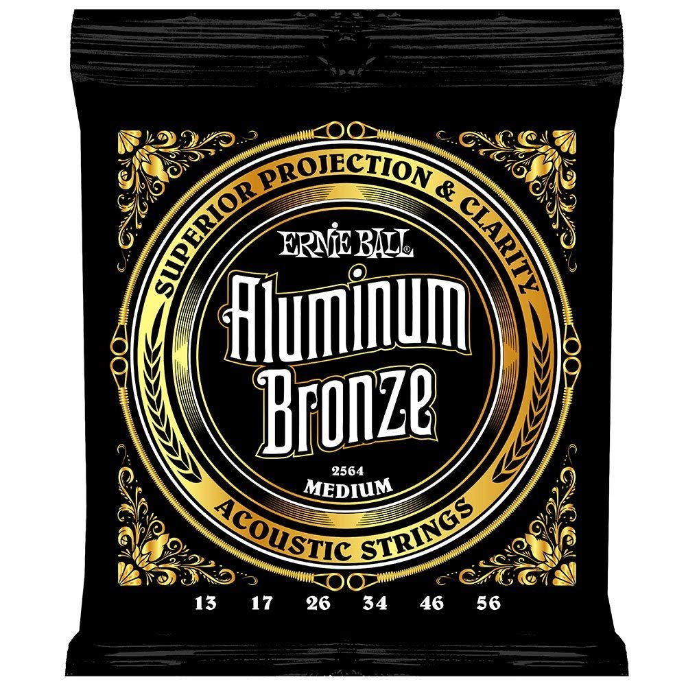 Ernie Ball Aluminum Bronze Medium Acoustic Strings 13-56