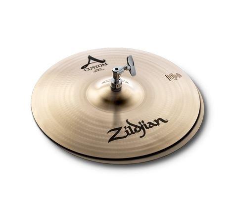 Zildjian A Custom 14 Inch Hi-Hat Cymbal Pair Brilliant