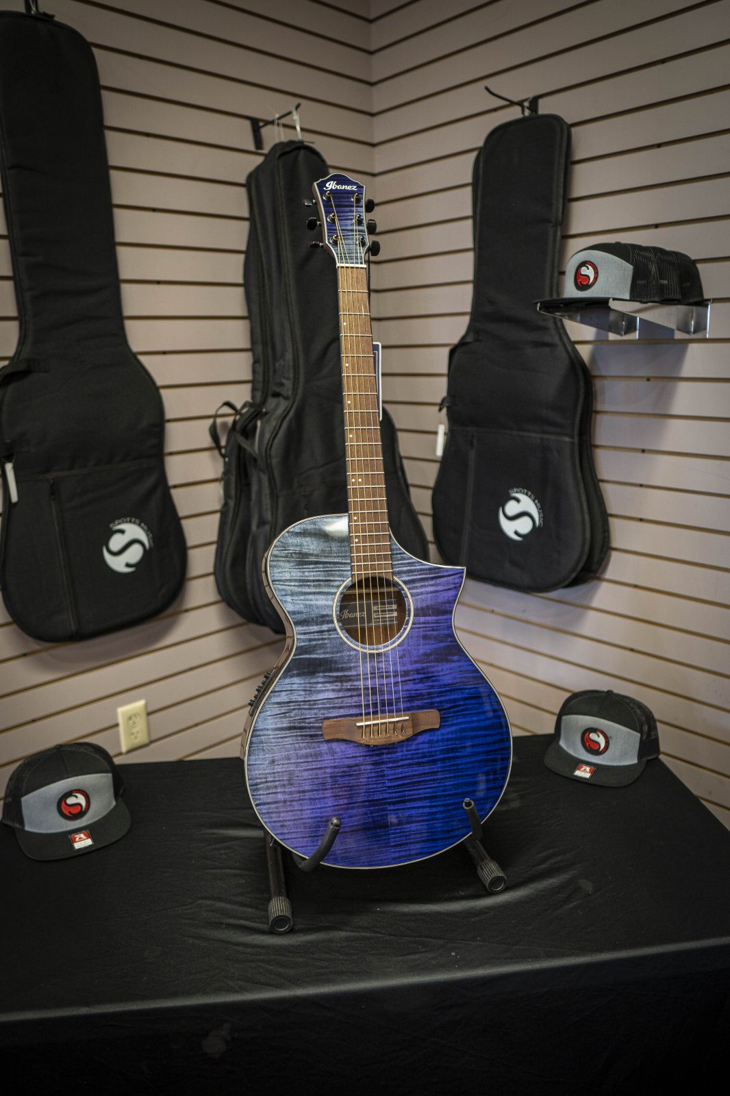 Ibanez AEWC32FMPSF Purple Sunset Fade Acoustic Electric Guitar