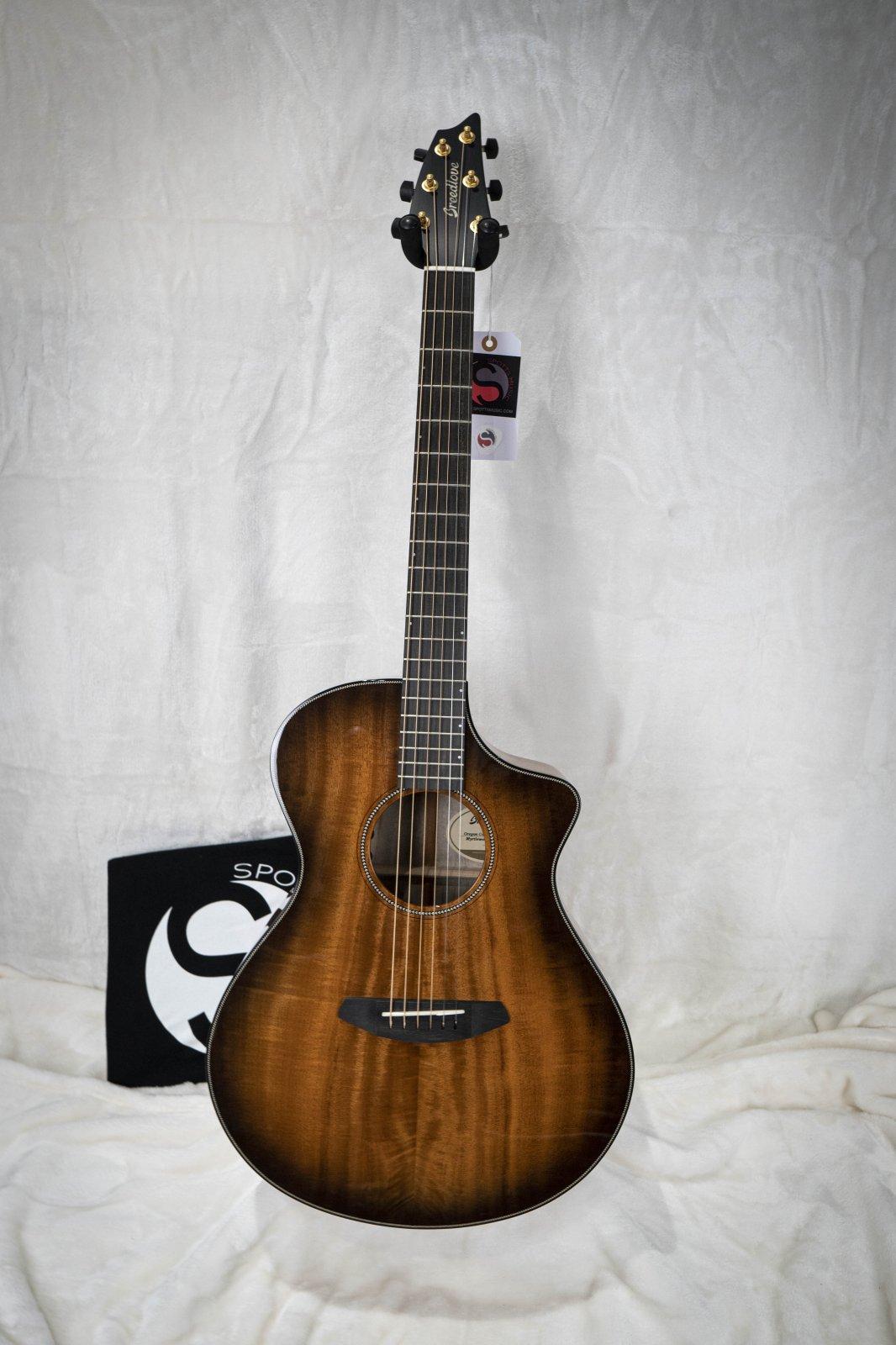 Breedlove Oregon Concert Bourbon CE Acoustic Electric Guitar