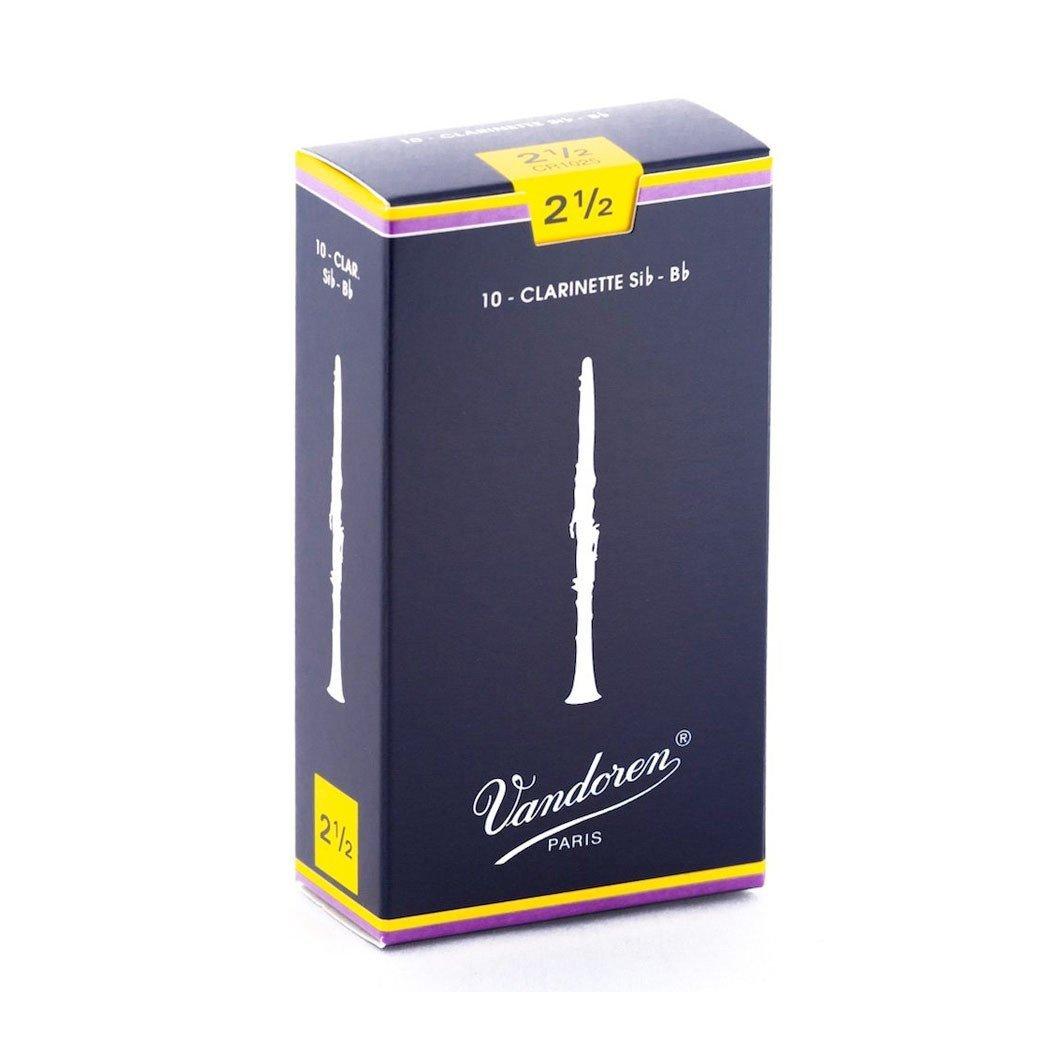 Vandoren Bb Clarinet Reeds 2.5 (10 Pack)