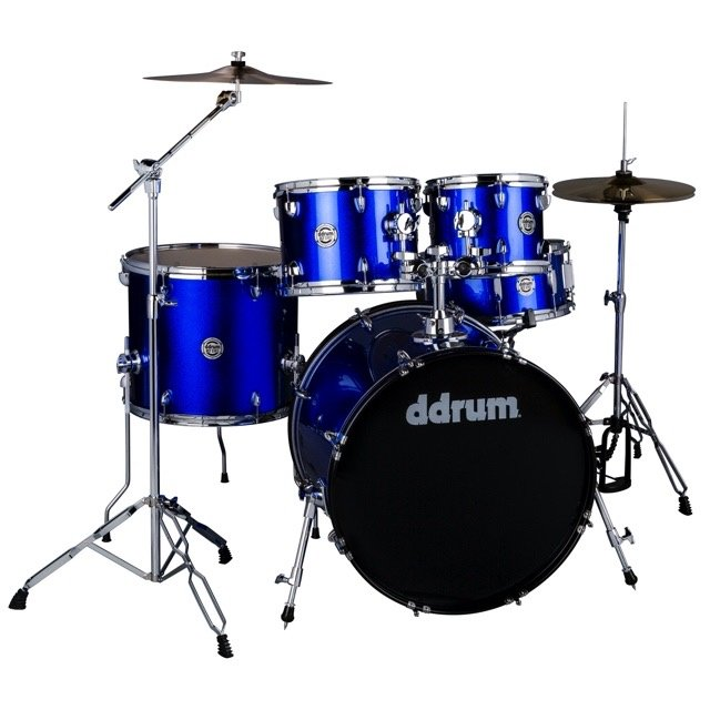 (Pre-Order) Ddrum D2 5 Piece Complete Drumset Cobalt Blue