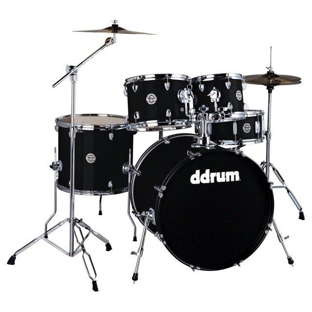 Ddrum D2 5 Piece Complete Drumset Midnight Black
