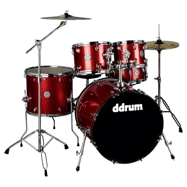 Ddrum D2 5 Piece Complete Drumset Red Sparkle