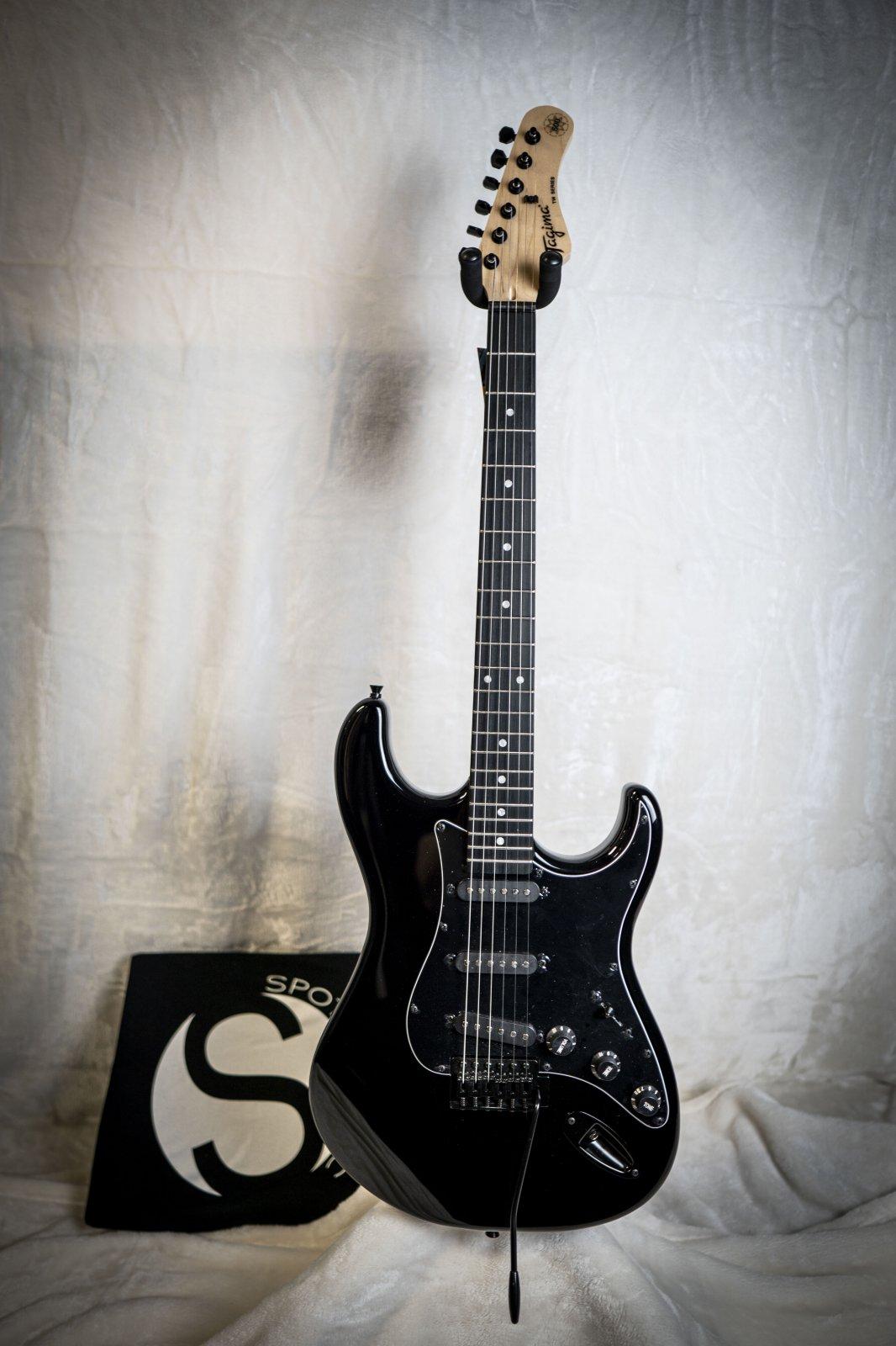 Tagima TG-500-BK-DF/BK Blacked Out Electric Guitar