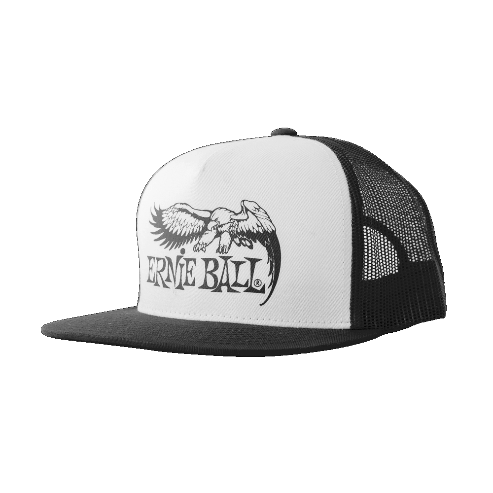 Ernie Ball Eagle Logo Hat Black w/ White Front