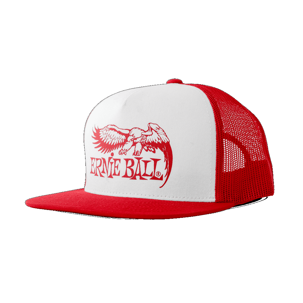 Ernie Ball Eagle Logo Hat Red w/ White Front