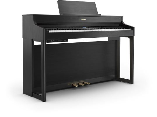 Roland HP702 Digital Piano Charcoal Black w/stand & bench