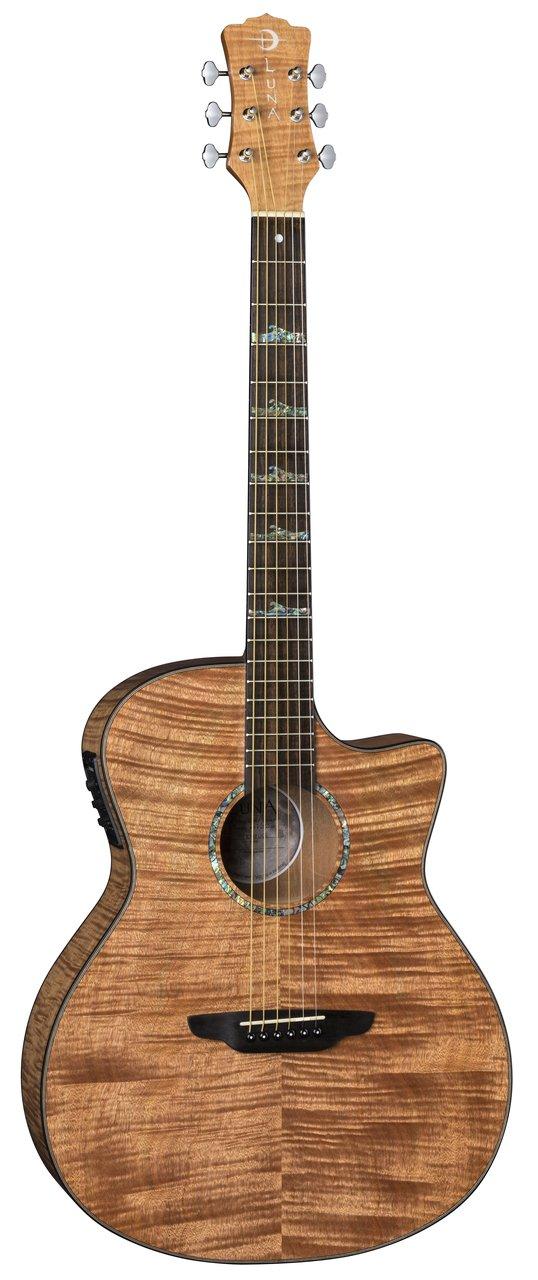 Luna High Tide Exotic Mahogany Acoustic/Electric Guitar