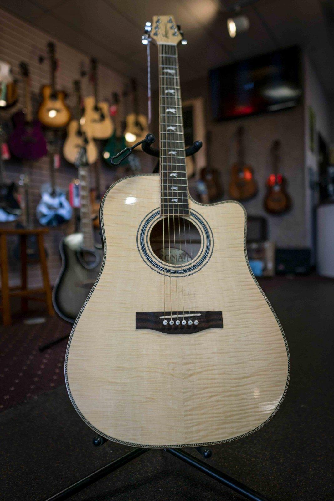 Kona KG1FMCEN Acoustic Electric Guitar (Used)