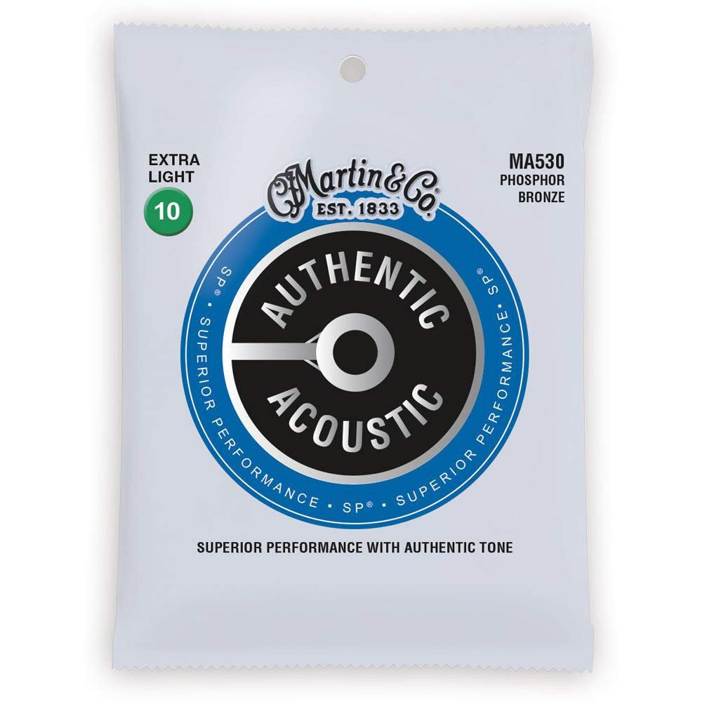 Martin Authentic Acoustic Phosphor Bronze Extra-Light Strings 10-47