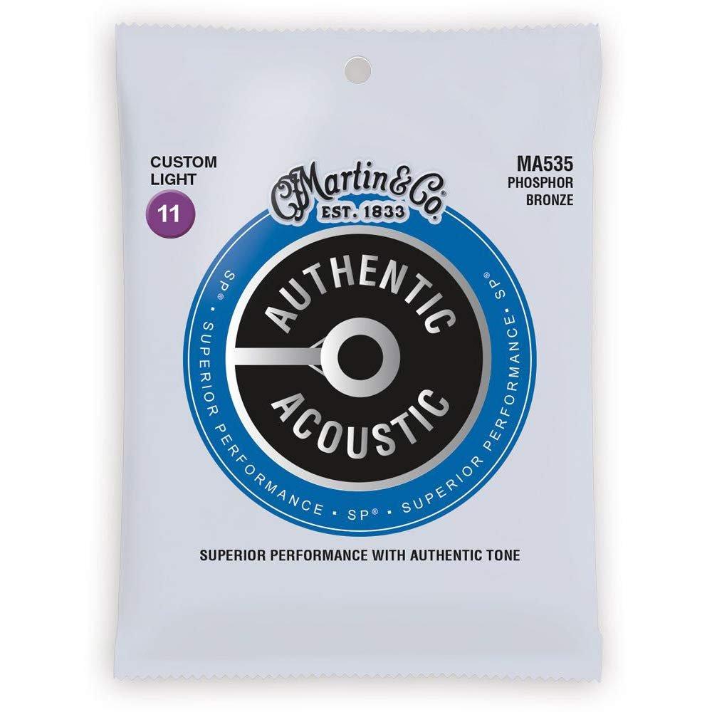Martin Authentic Acoustic Phosphor Bronze Custom Light Strings 11-52