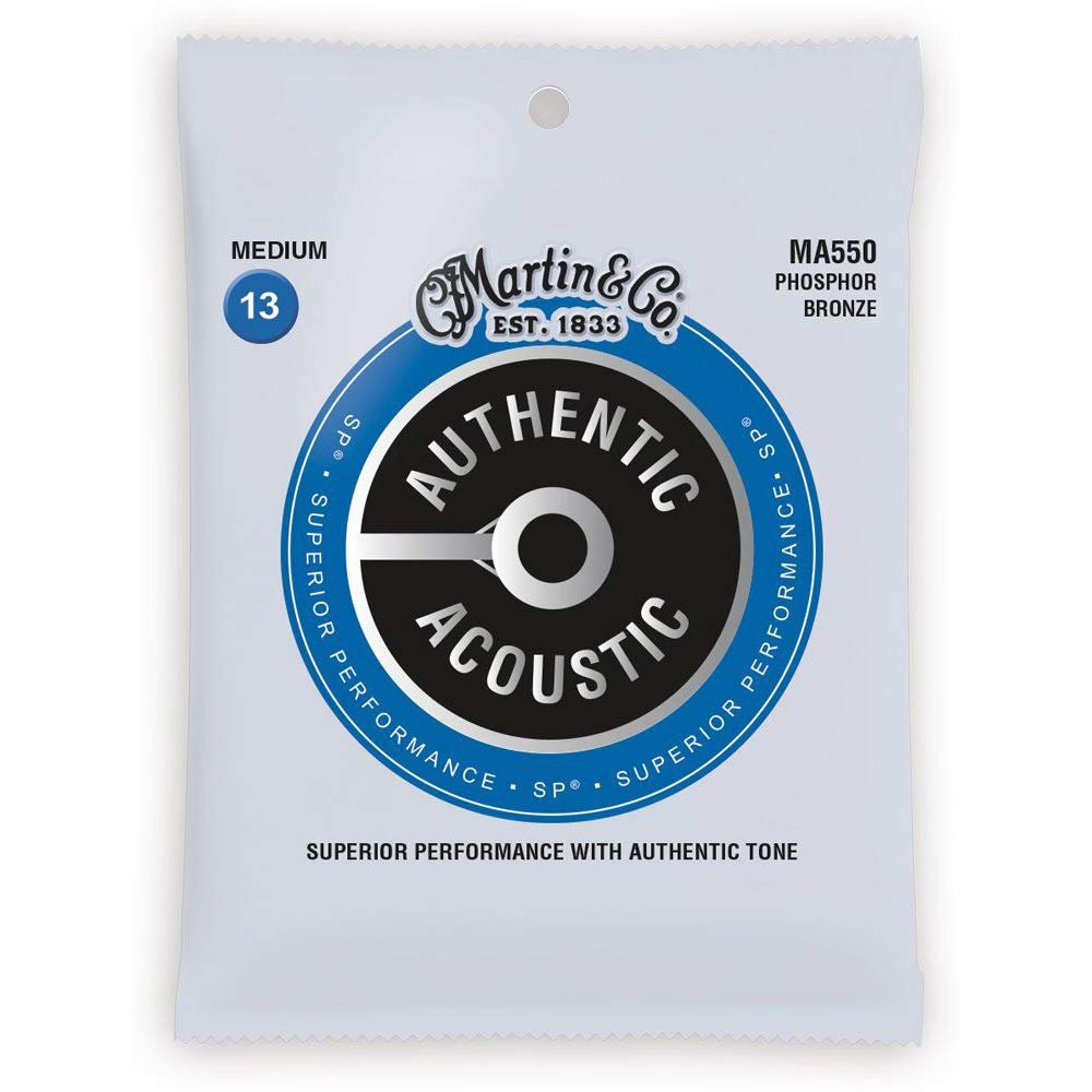Martin Authentic Acoustic Phosphor Bronze Medium Strings 13-56