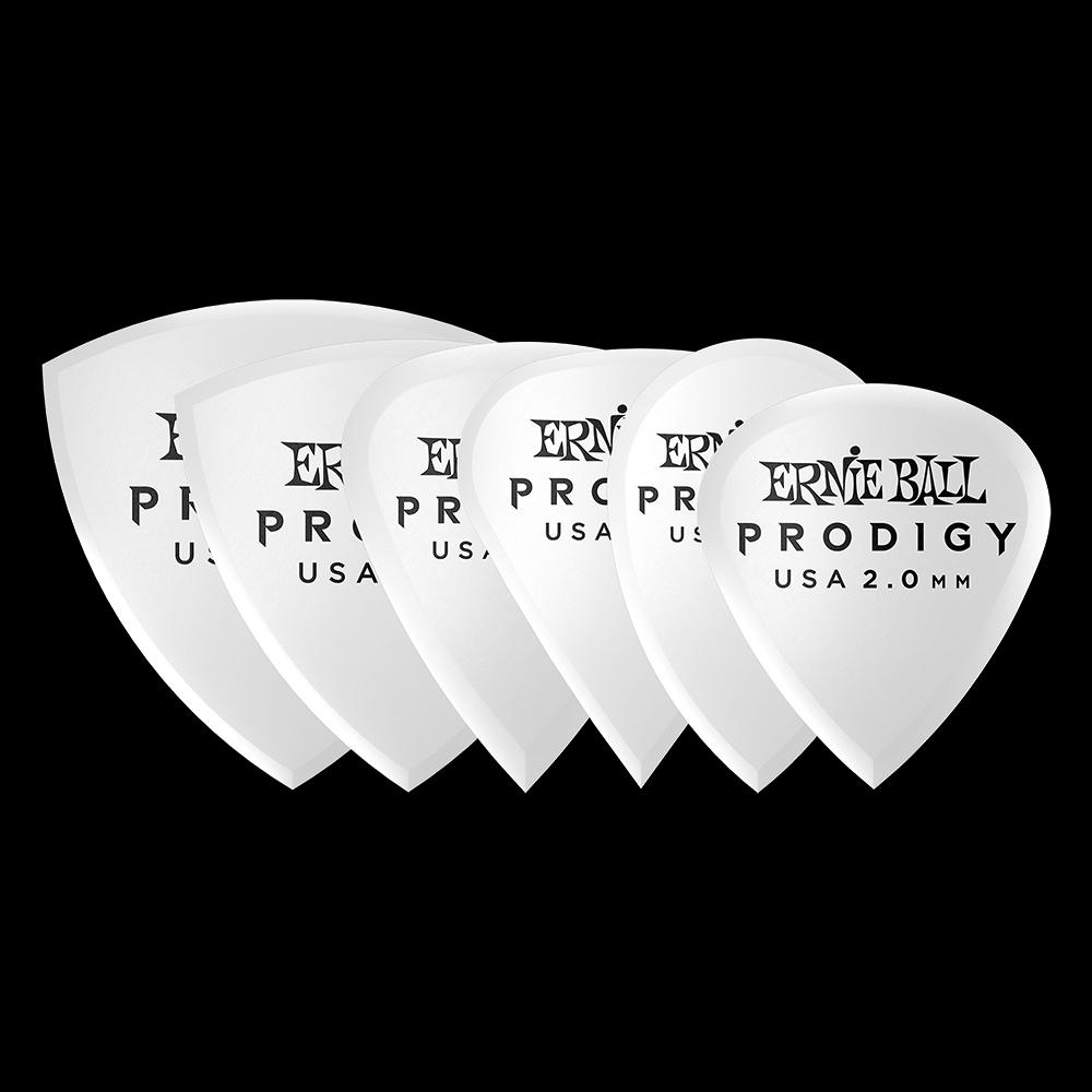 Ernie Ball 2.0mm White Multipack Prodigy Picks 6-pack