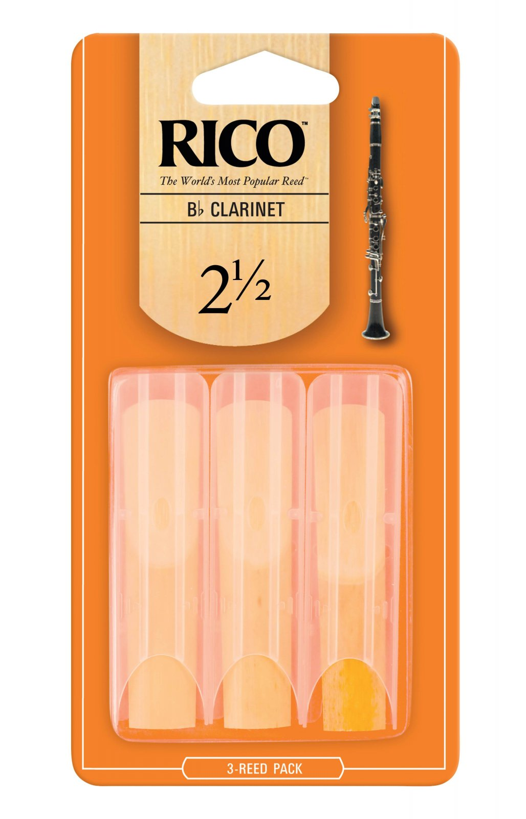 Rico Bb Clarinet Reeds 2.5 (3 Pack)