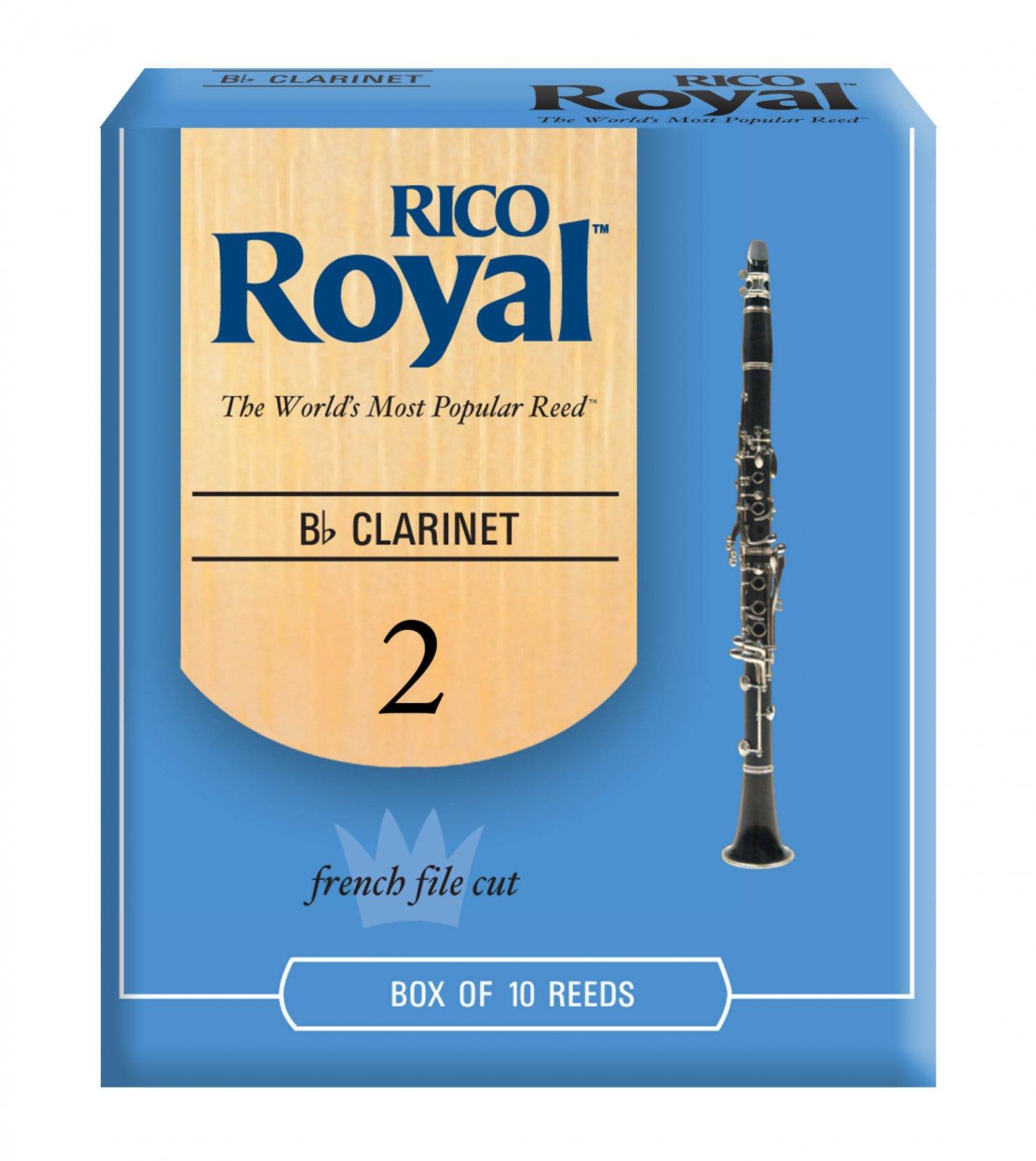 Rico Royal Bb Clarinet Reeds 2.0 (10 Pack)