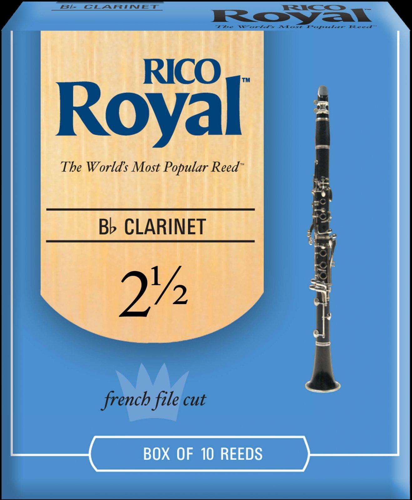 Rico Royal Bb Clarinet Reeds 2.5 (10 Pack)