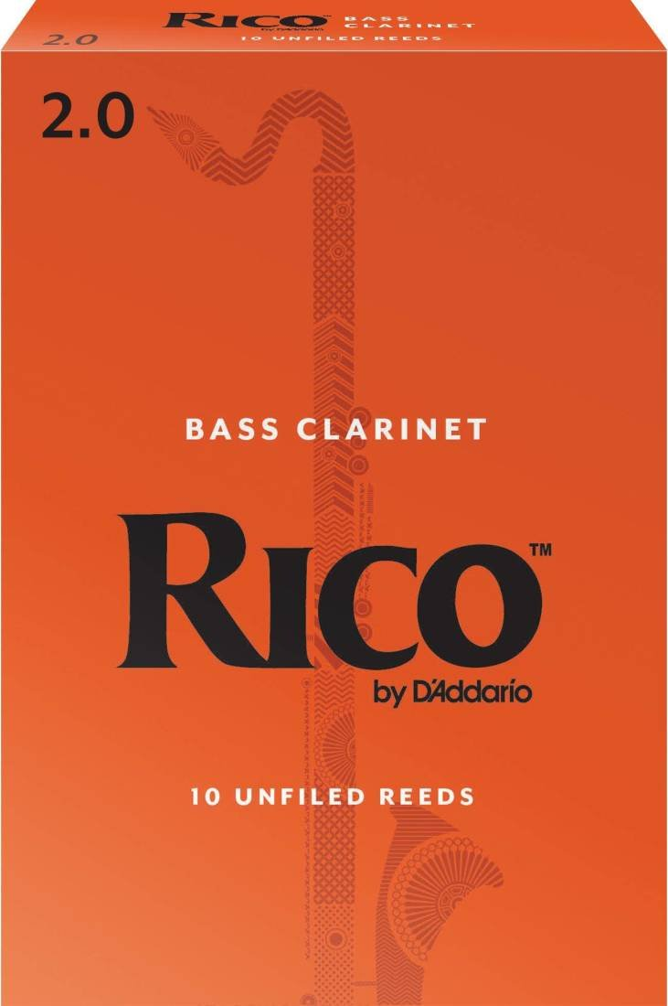 Rico Bass Clarinet Reeds 2.0 (10 Pack)