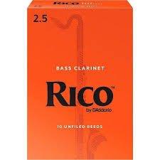 Rico Bass Clarinet Reeds 2.5 (10 Pack)