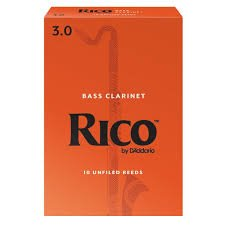 Rico Bass Clarinet Reeds 3.0 (10 Pack)
