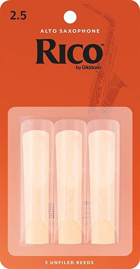 Rico Alto Sax Reeds 2.5 (3 Pack)