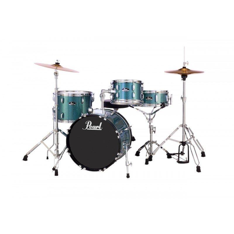 Pearl Roadshow 4-Piece Complete Drum Kit - Aqua Blue Sparkle