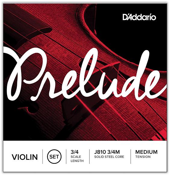 Prelude Violin String Set, 3/4 Scale, Medium Tension