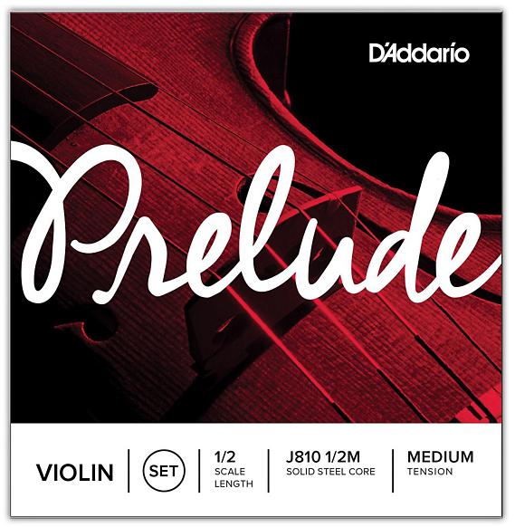 Prelude Violin String Set, 1/2 Scale, Medium Tension
