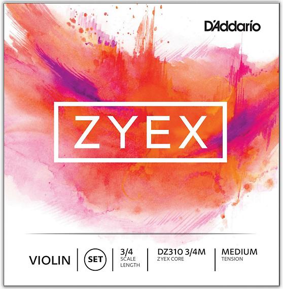 Zyex Violin String Set, 3/4 Scale, Medium Tension