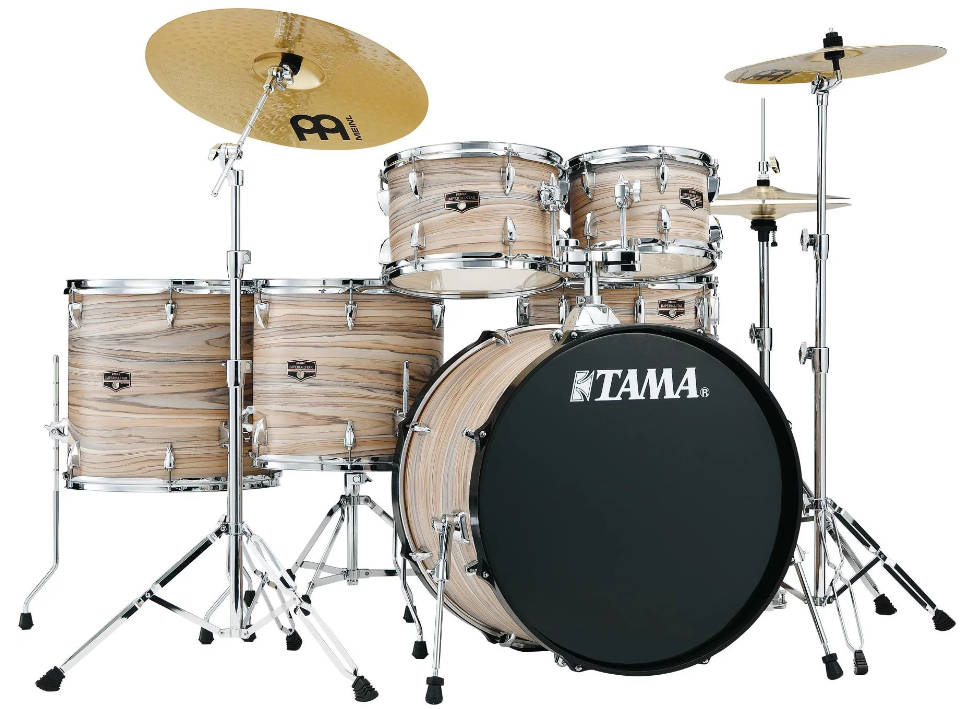 (Pre-Order) Tama IMPERIALSTAR IE62CNZW Natural Zebrawood Wrap Complete Drumset